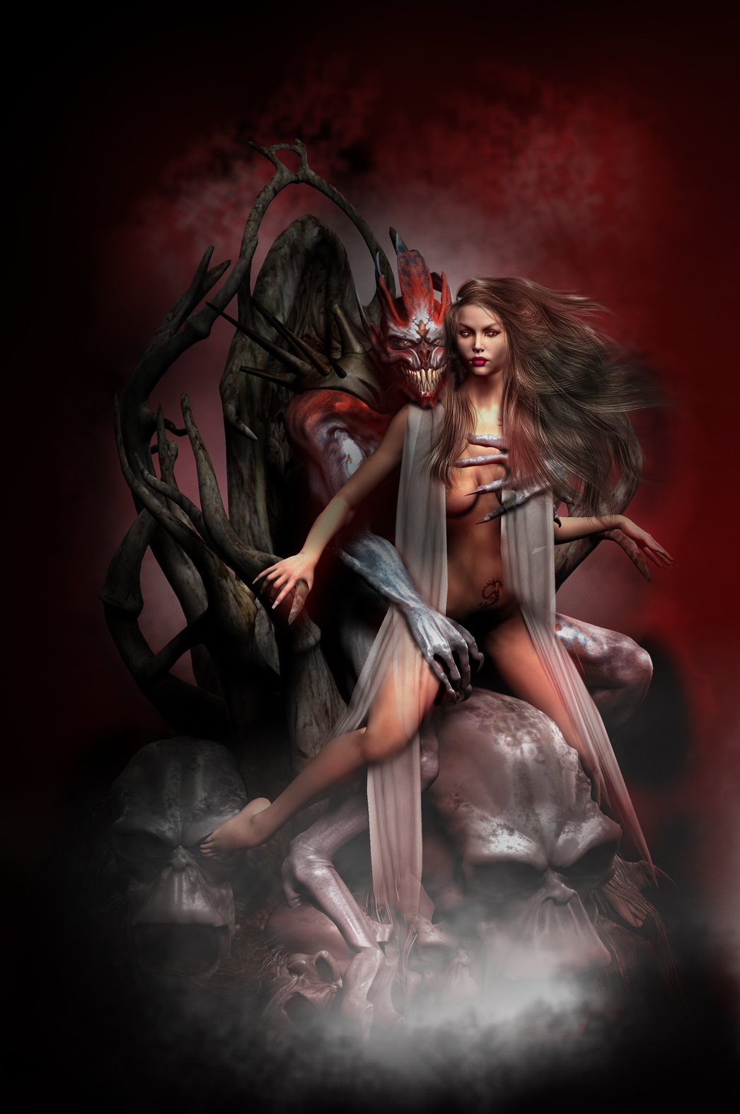 Adult demon fantasy art adult photo