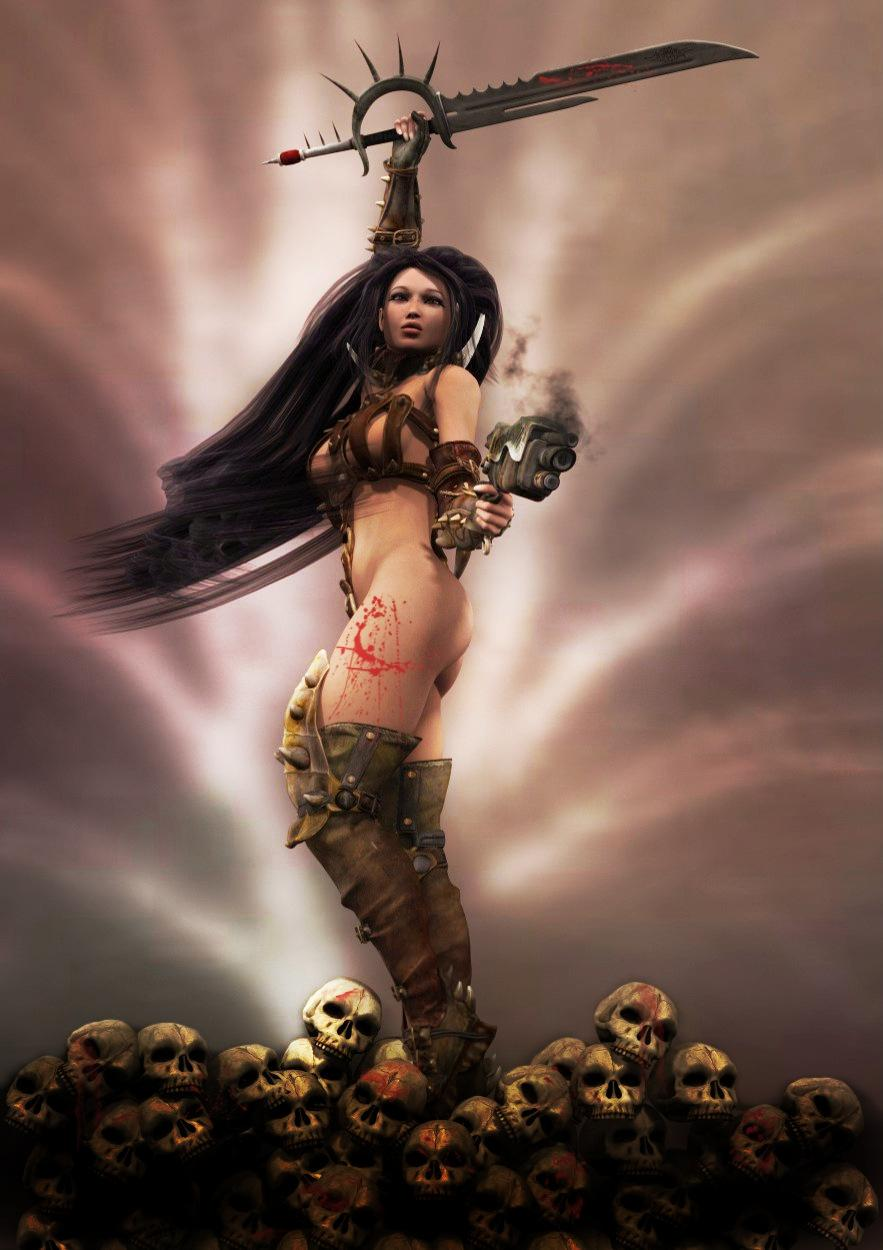 3d fantasy women warriors hentia image