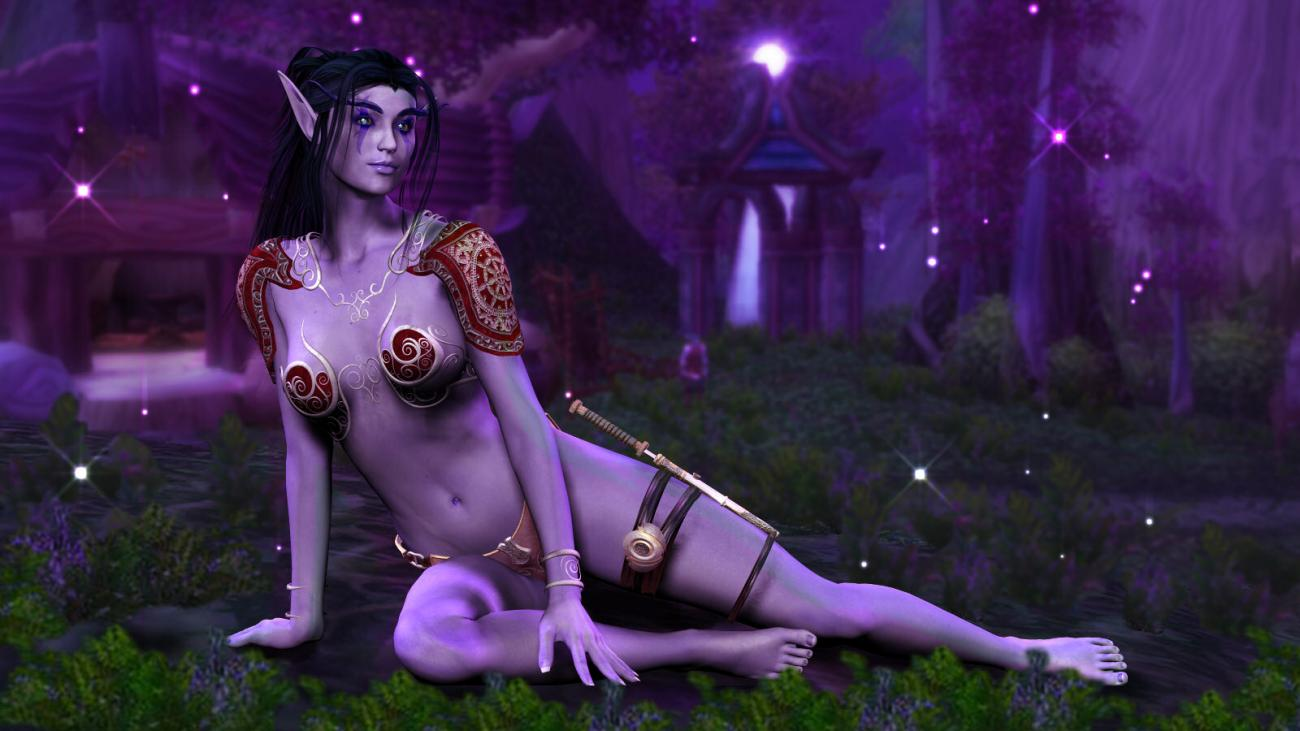 3d night elf sexy film