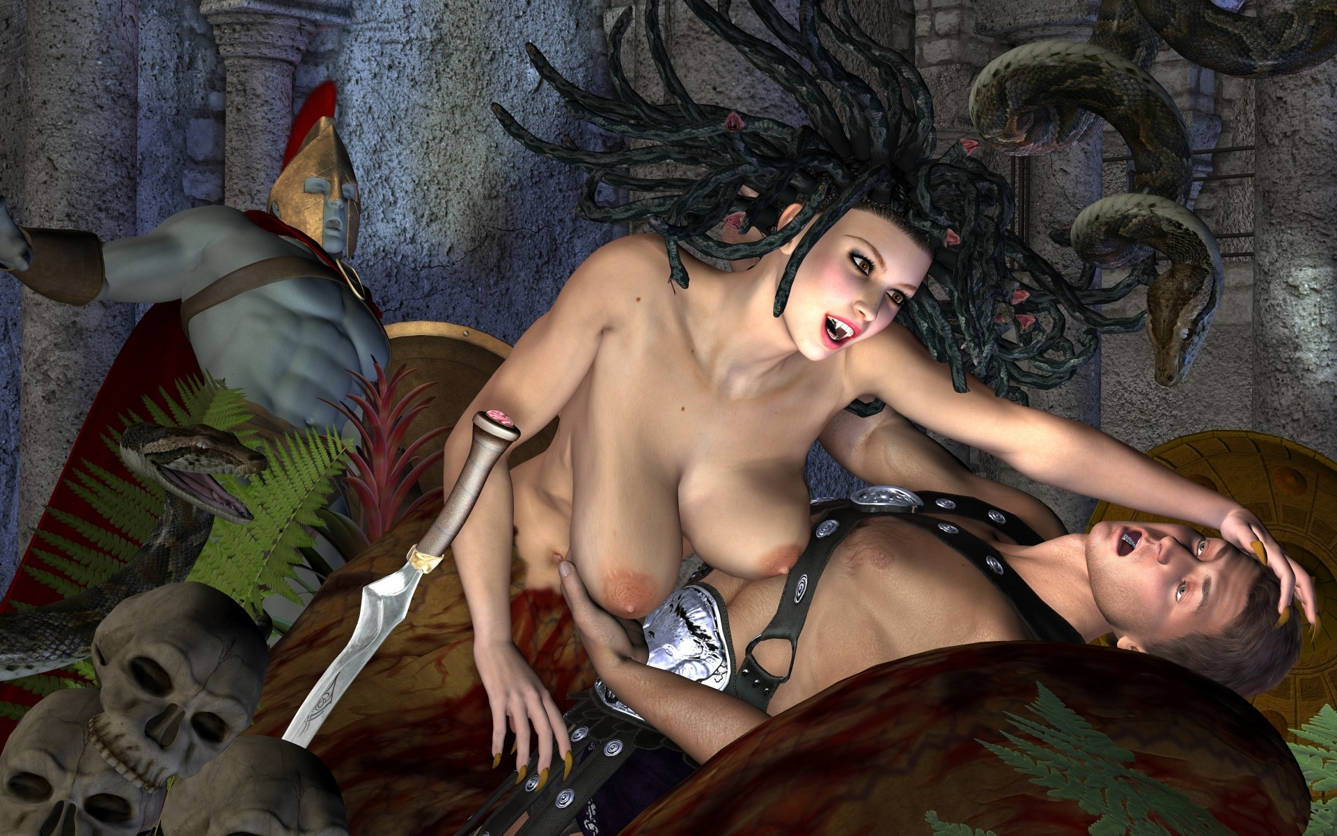 3d snake women pic porn xxx gorgeous breasts