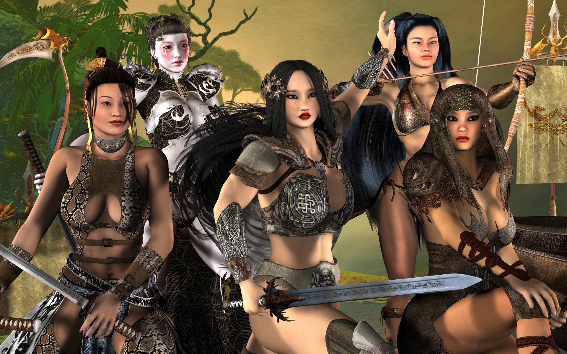 3d warrior chicks adult pic