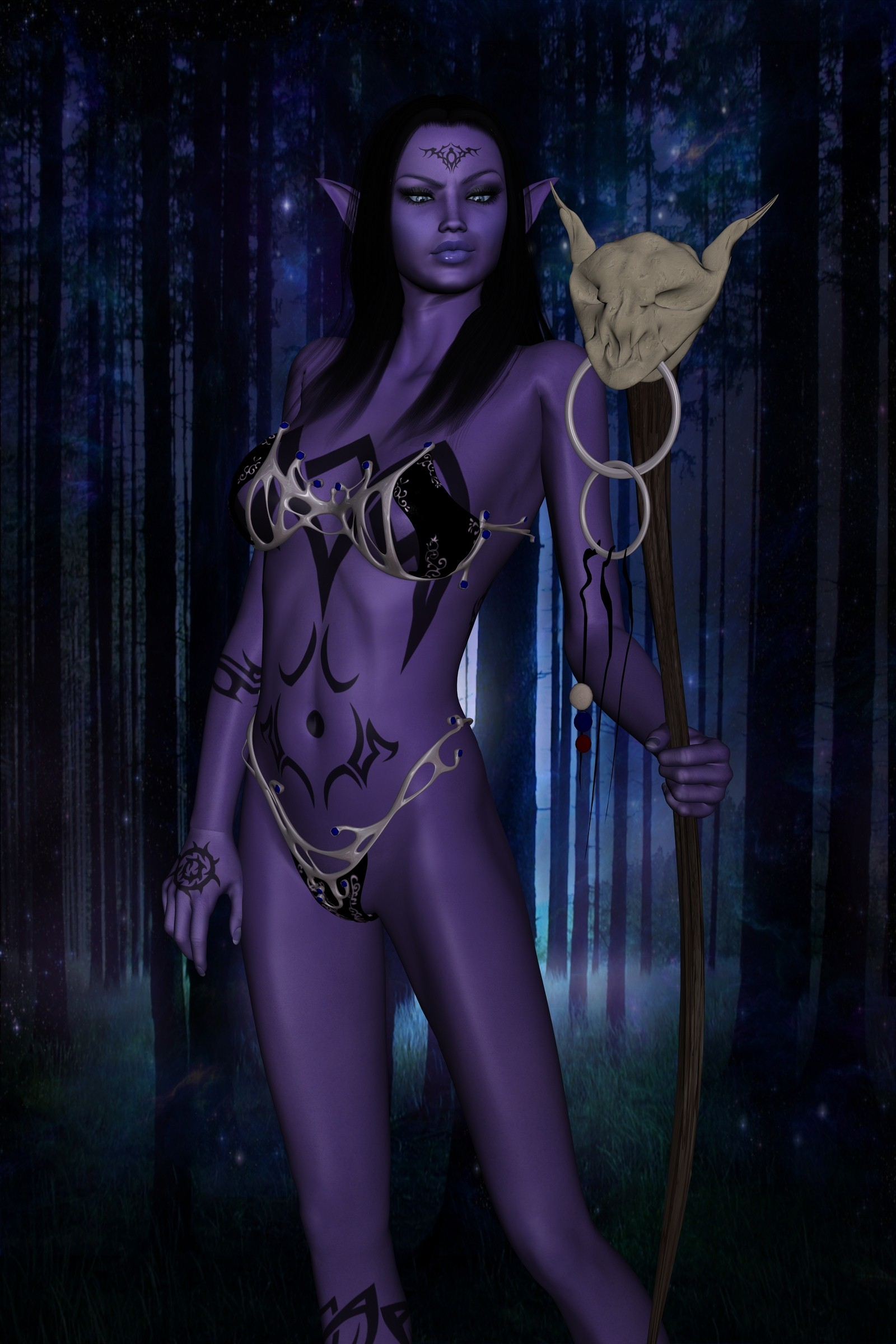 Sovia dark elf 3d nude picture