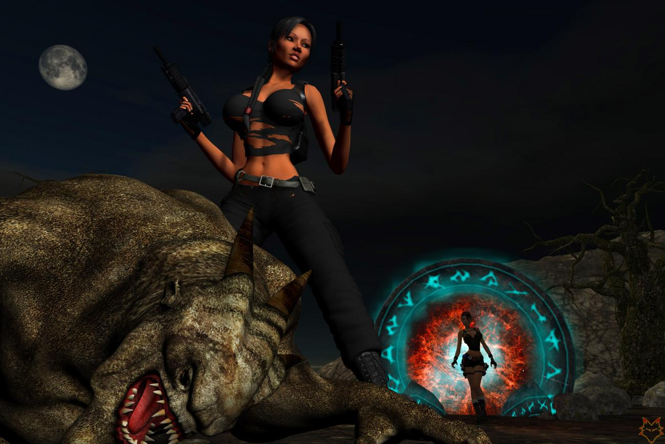 3d monster lara pornos toons
