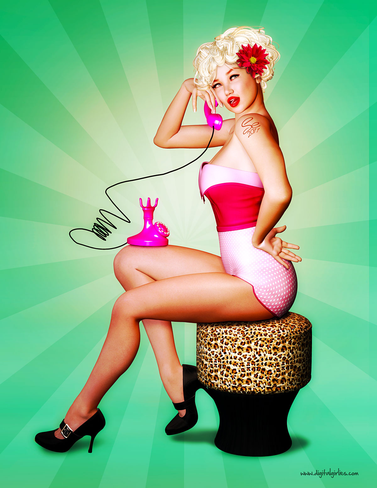 3d pin up nude movie