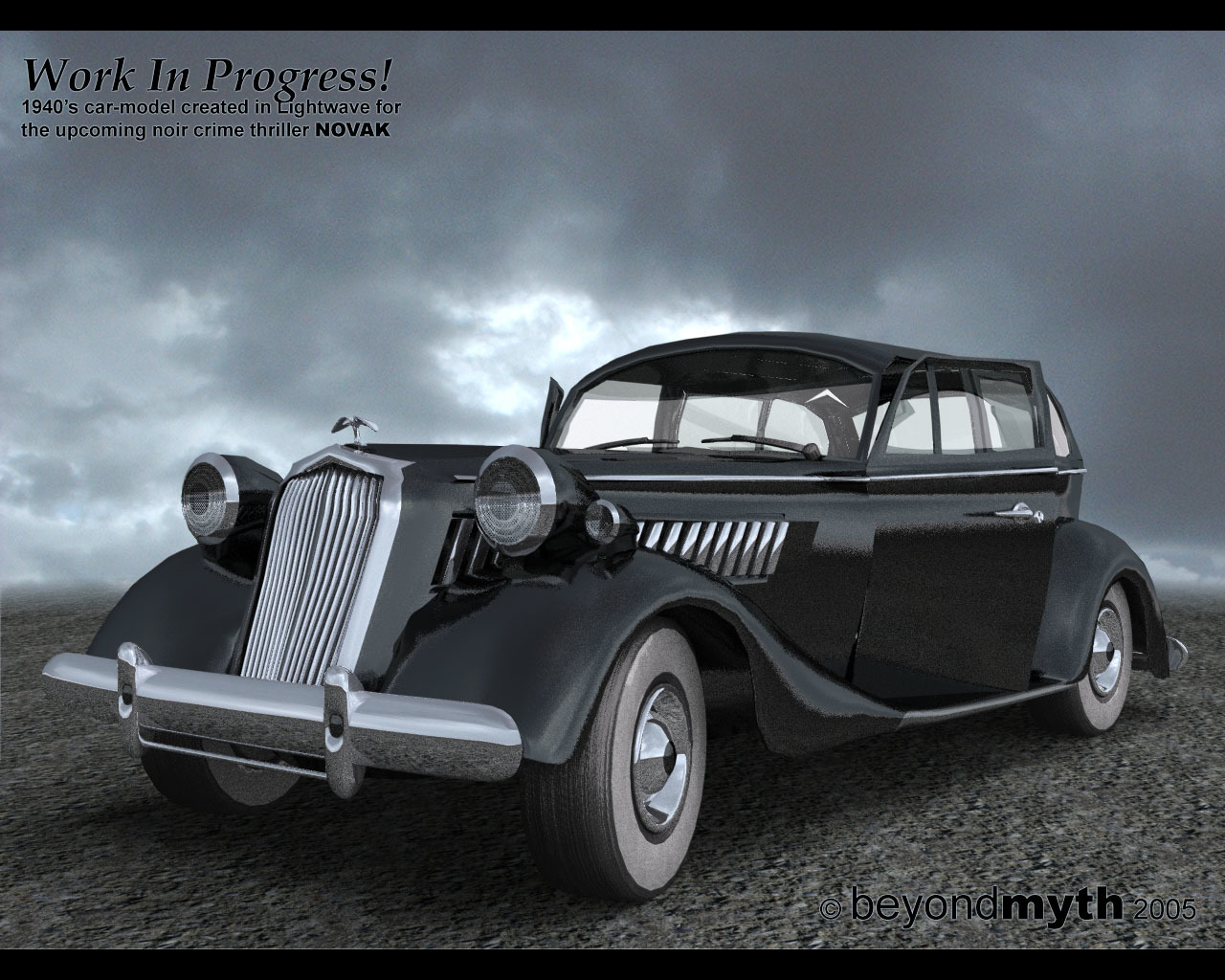 1940's car model - WIP - *yet an update*