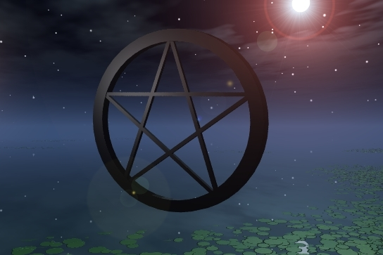 Pentacle in moonlight