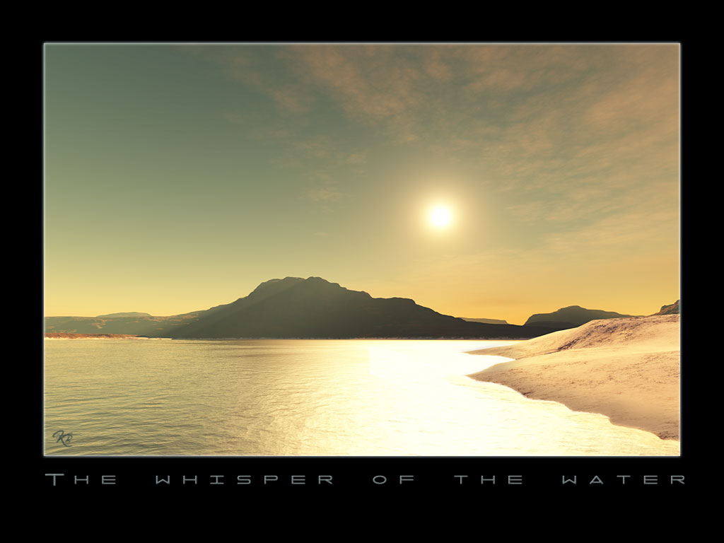 The whisper of the water