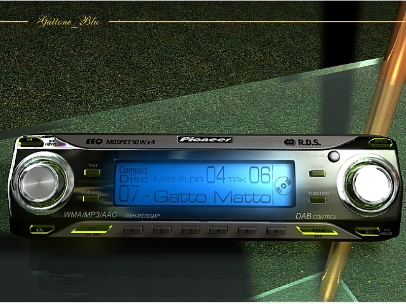 Car Stereo by gattone_blu