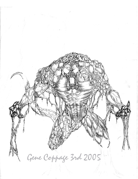 swamp creature by creech17 2D Creatures