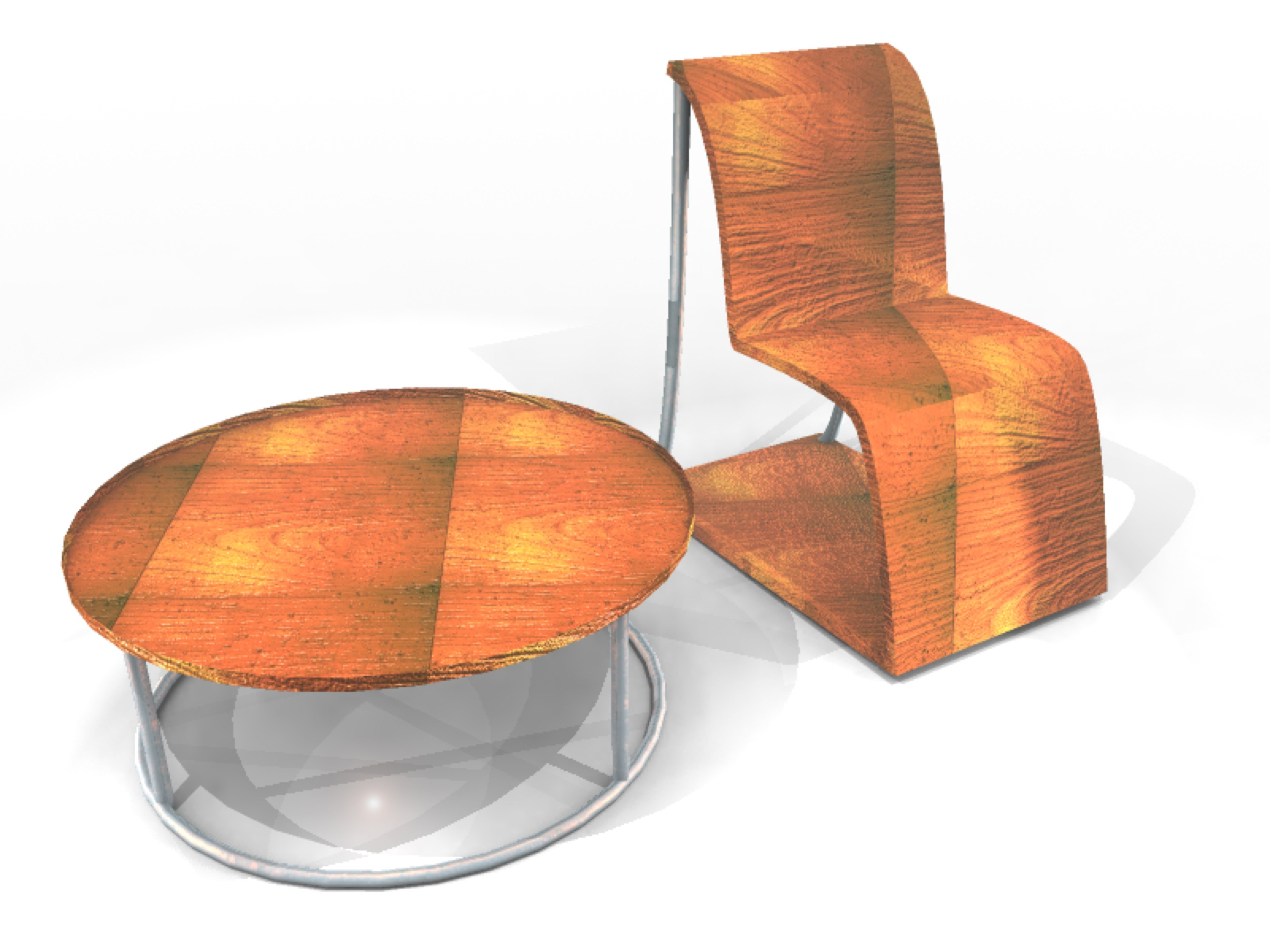 Modern Style chair and table