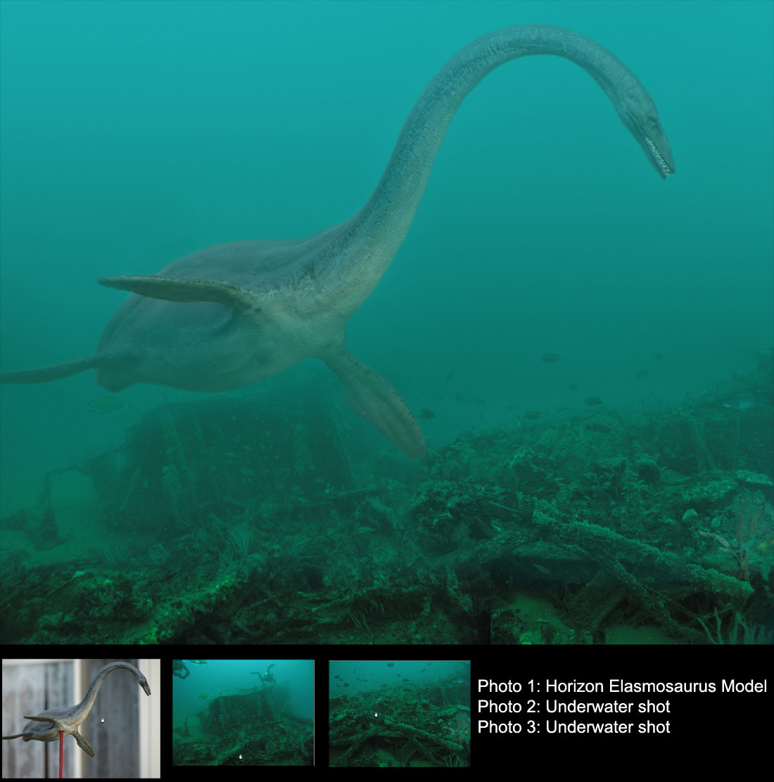a real elasmosaurus by exprssnimg 2d creatures