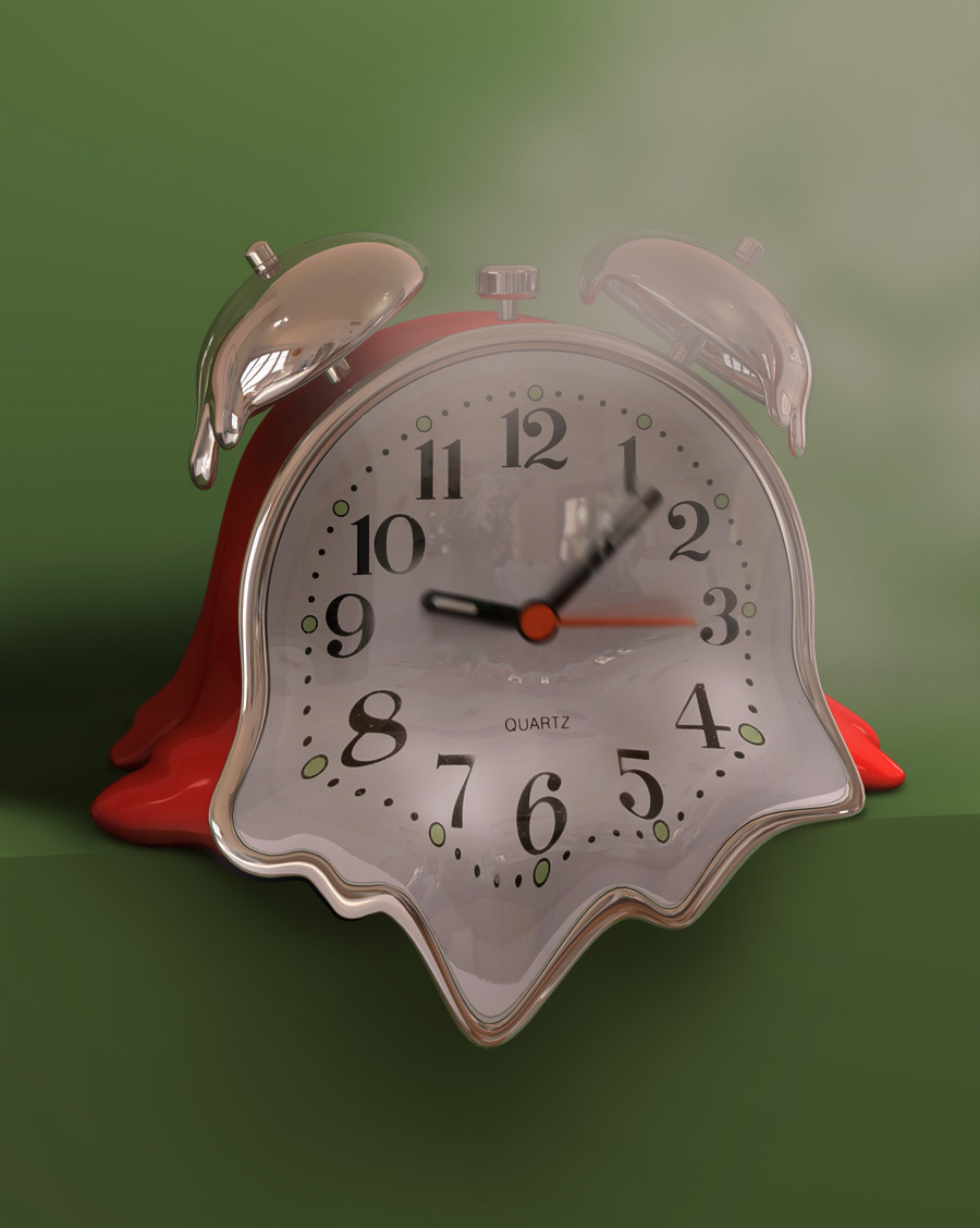 Melting Clock By Shakes Cinema 4d Illustration