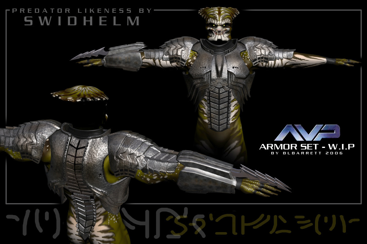 AVP Predator Armor Update 9/9 by blbarrett Poser Science Fiction