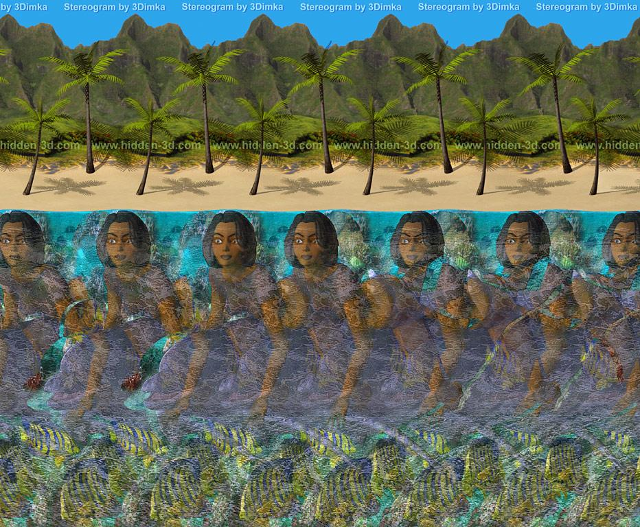 Erotic magic eye stereogram