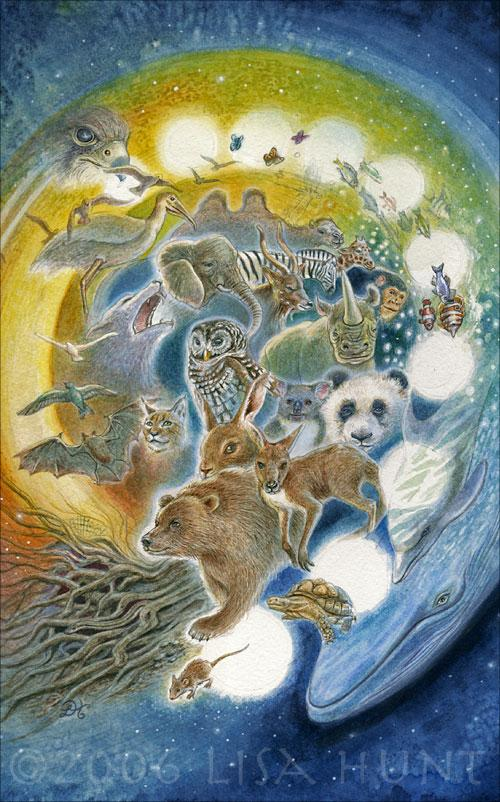Animals Divine Tarot: Animals Divine By LisaHuntArt 2D Fantasy