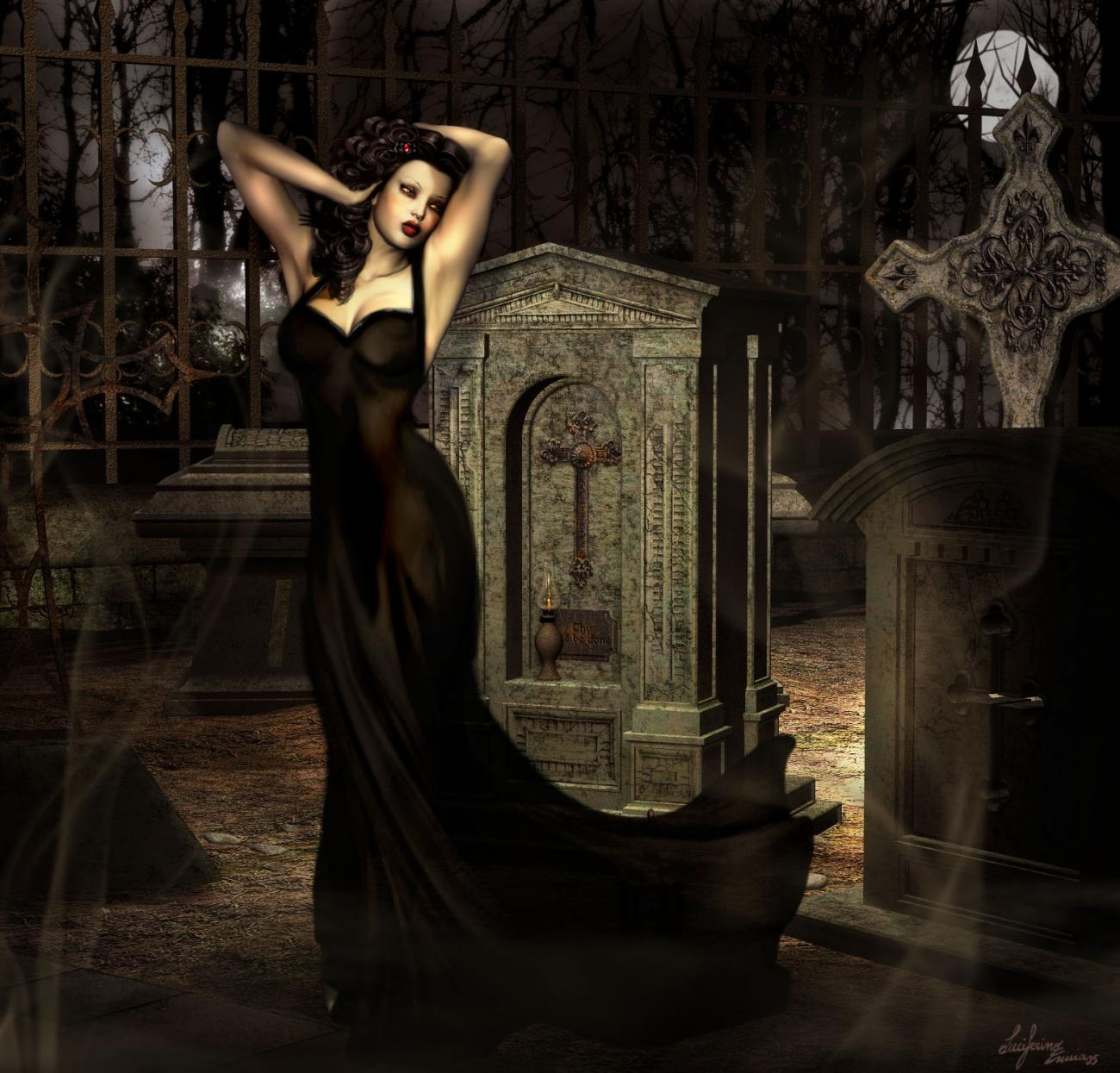 angel of gothic tombstone - photo #10