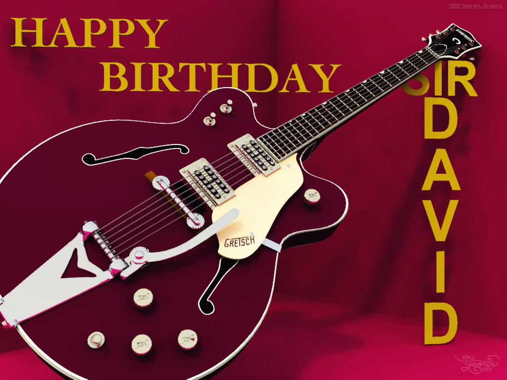 Happy Birthday Sir David! :-)