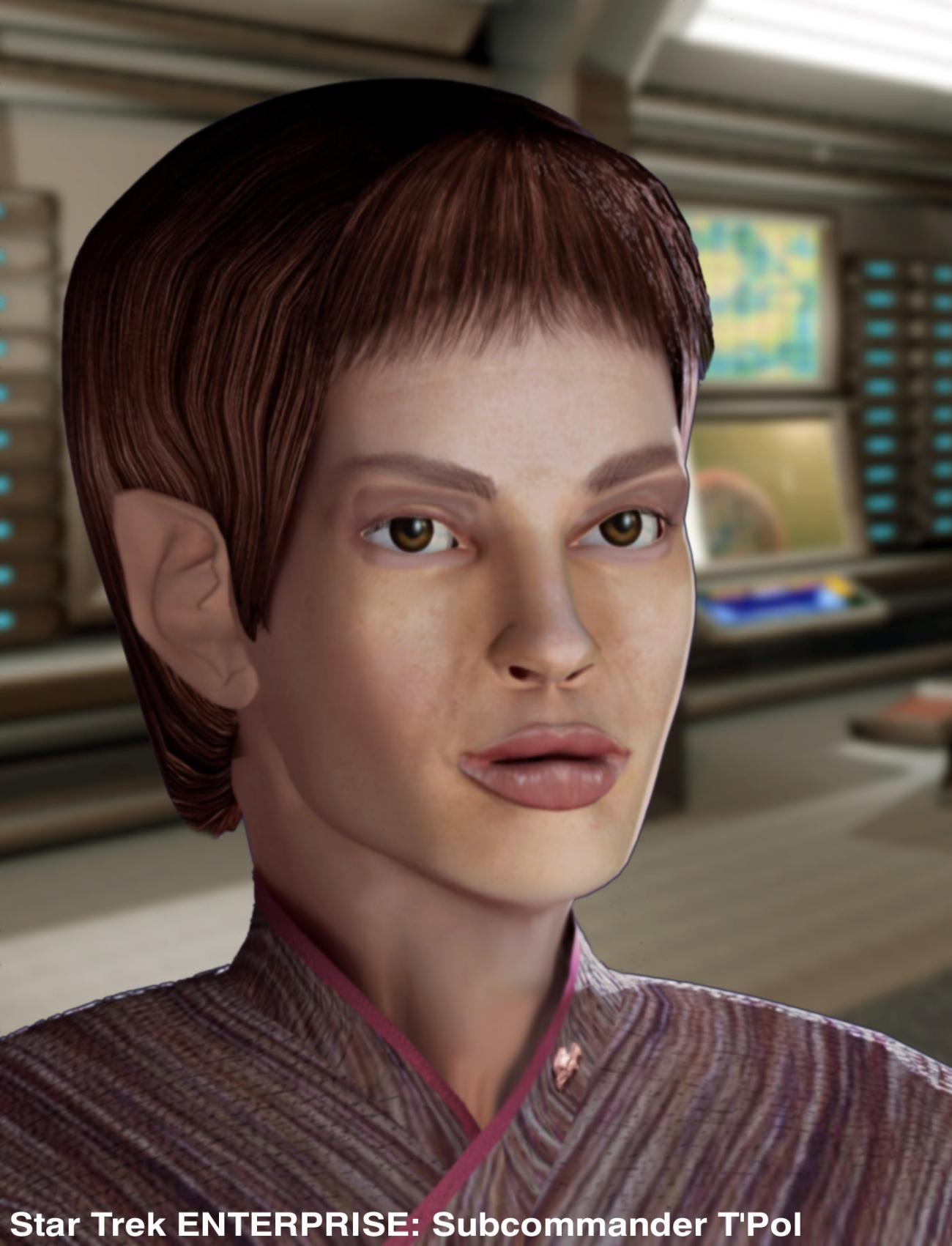 Vulcanian T'Pol of Star Trek Enterprise