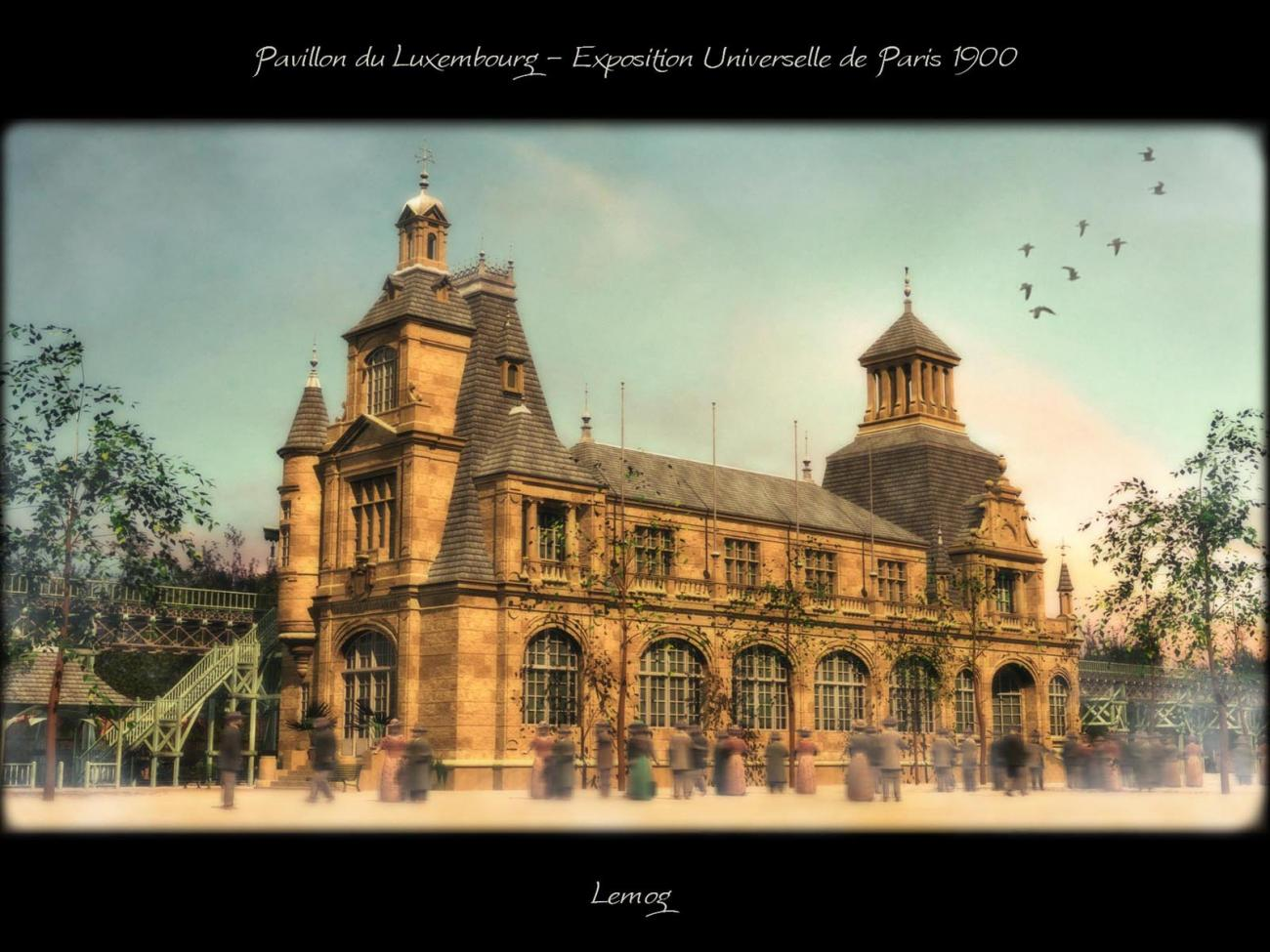 Paris World's Fair 1900 - Pavilion of Luxembourg