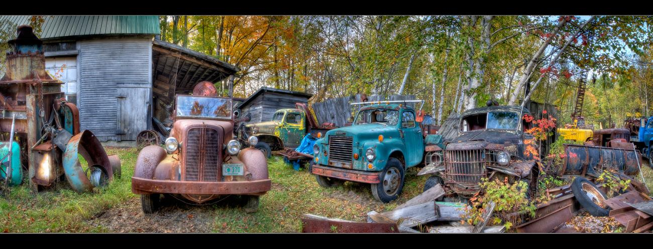 The Old Junkyard (view larger please!) by glennn23