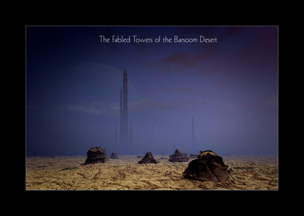 Fabled Towers of the Barsoom Desert