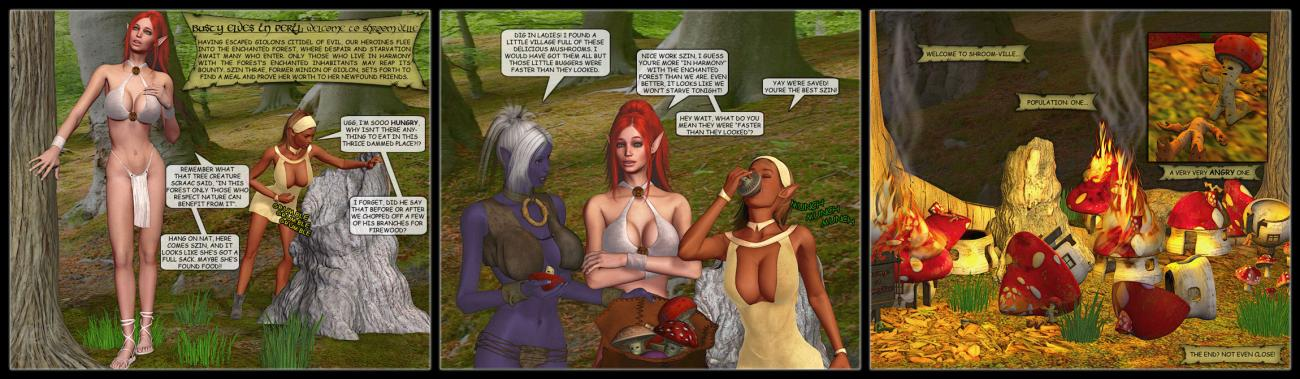 Busty Elves In Peril: Welcome To Shroom-Ville