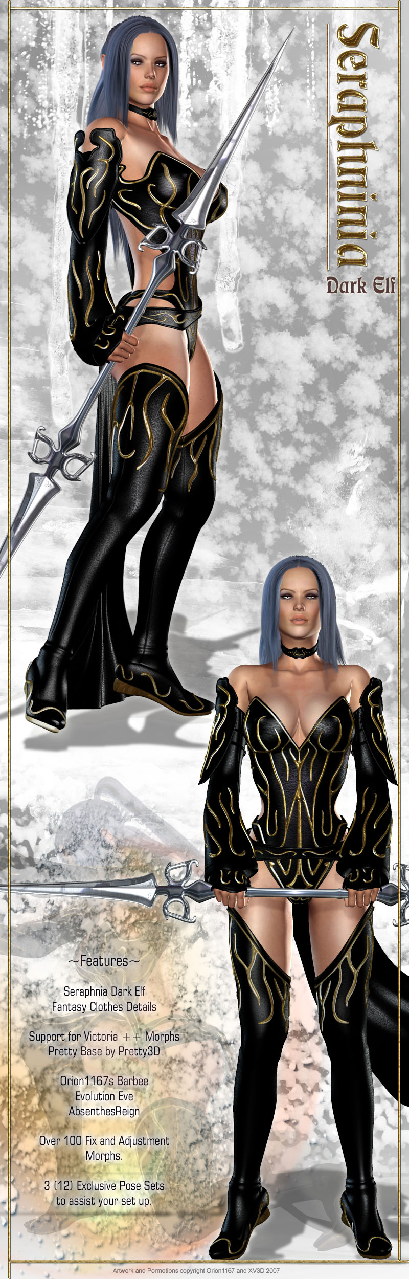 Seraphnia Dark Elf Clothing