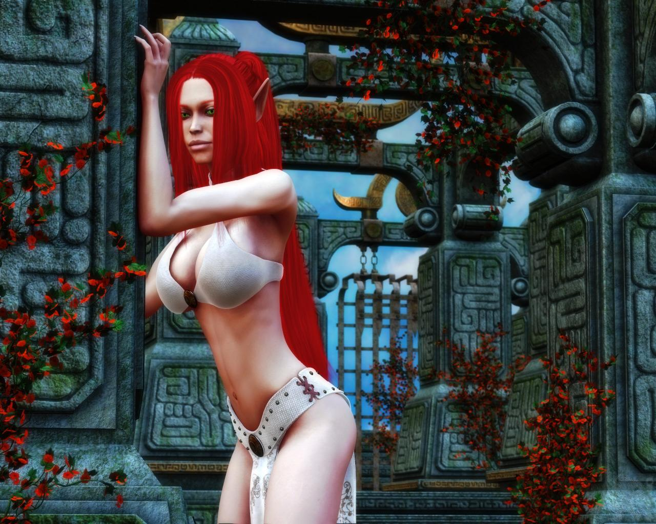 Busty Elves In Peril: Garden Walk