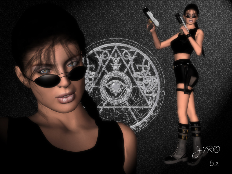 Carly as Lara Croft by JVRenderer