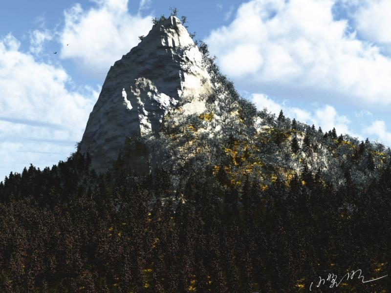 A mountain of the early spring by Ark_Pilot