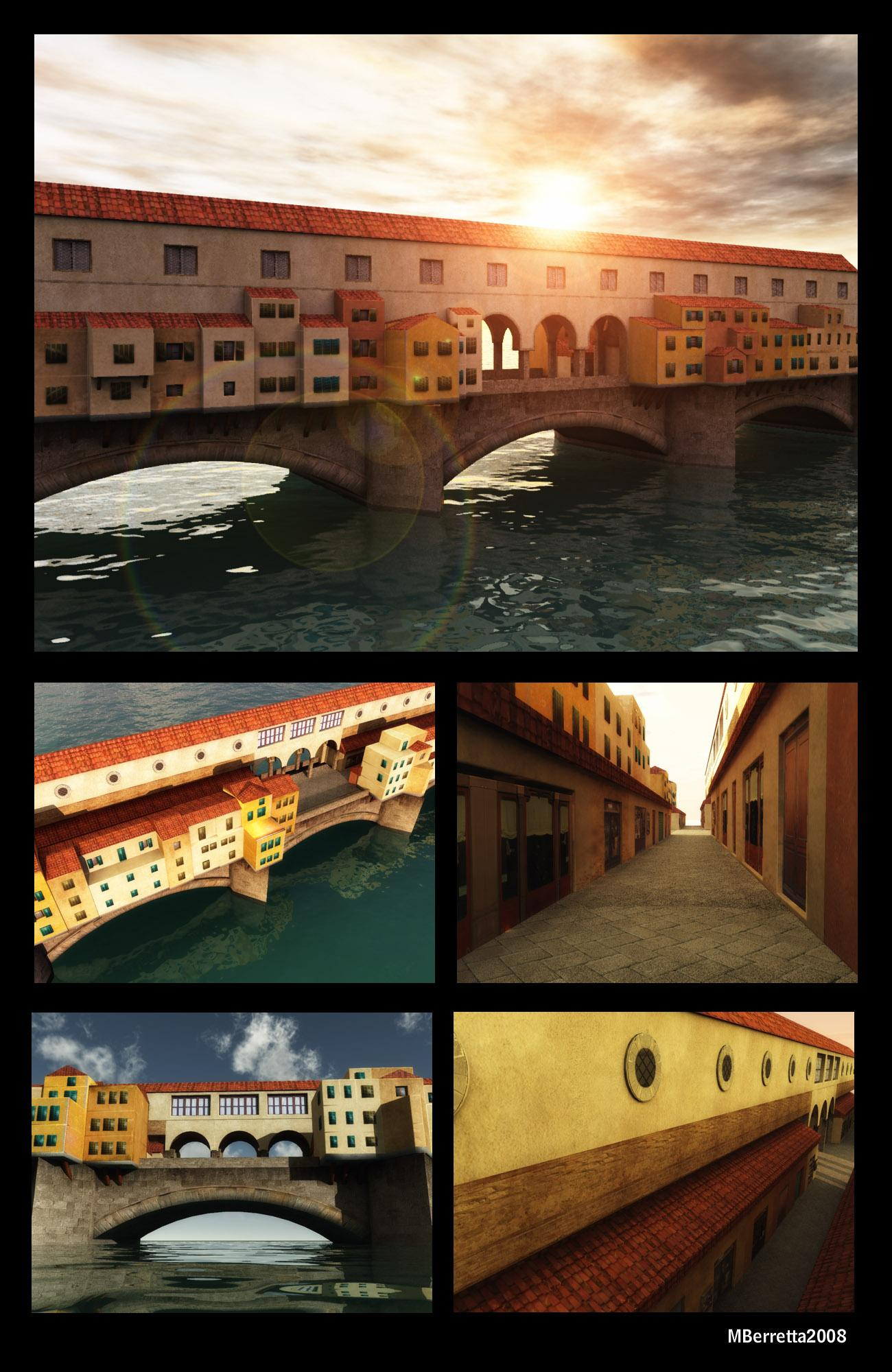 Ponte Vecchio, old famous bridge in Florence