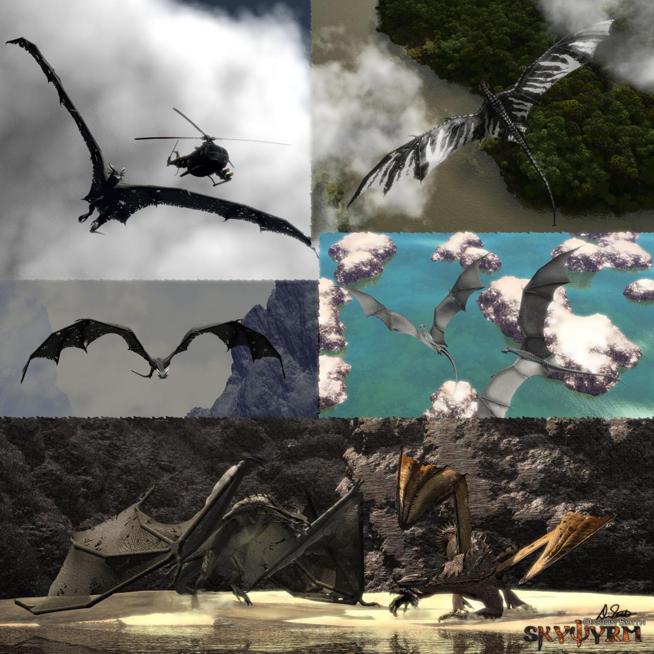 Skywyrm Collage