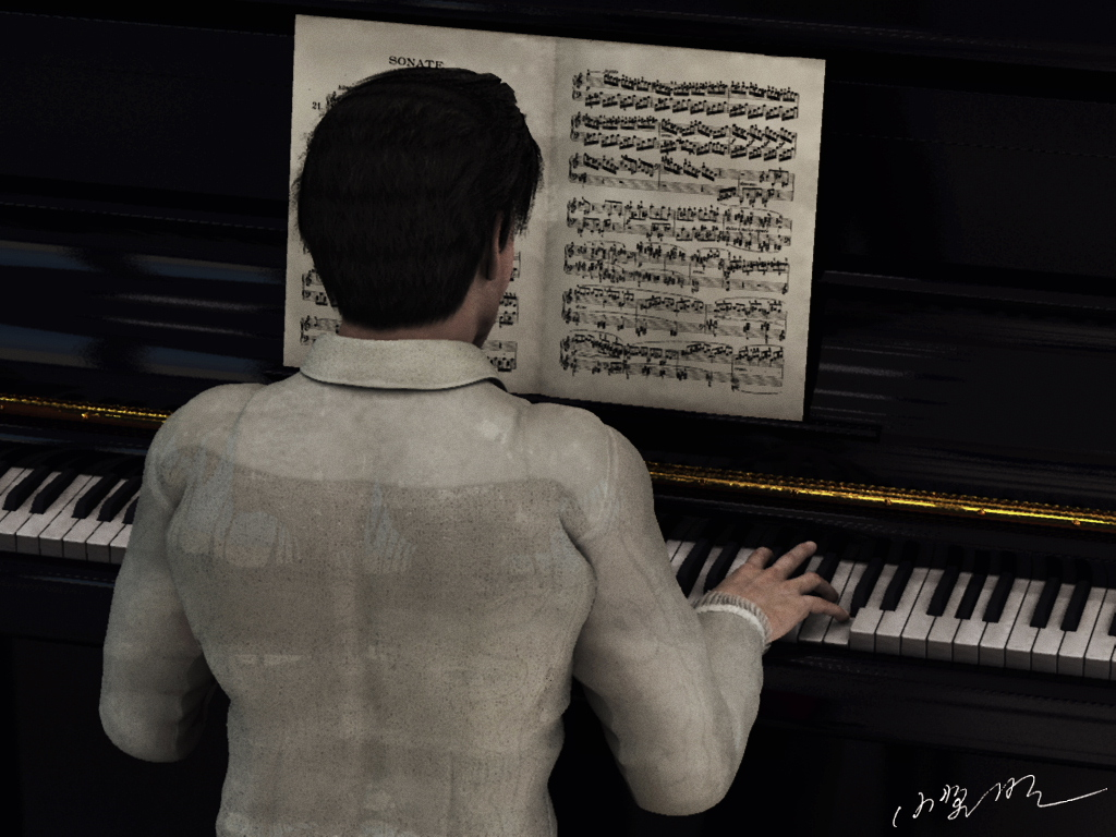 The man who plays the piano