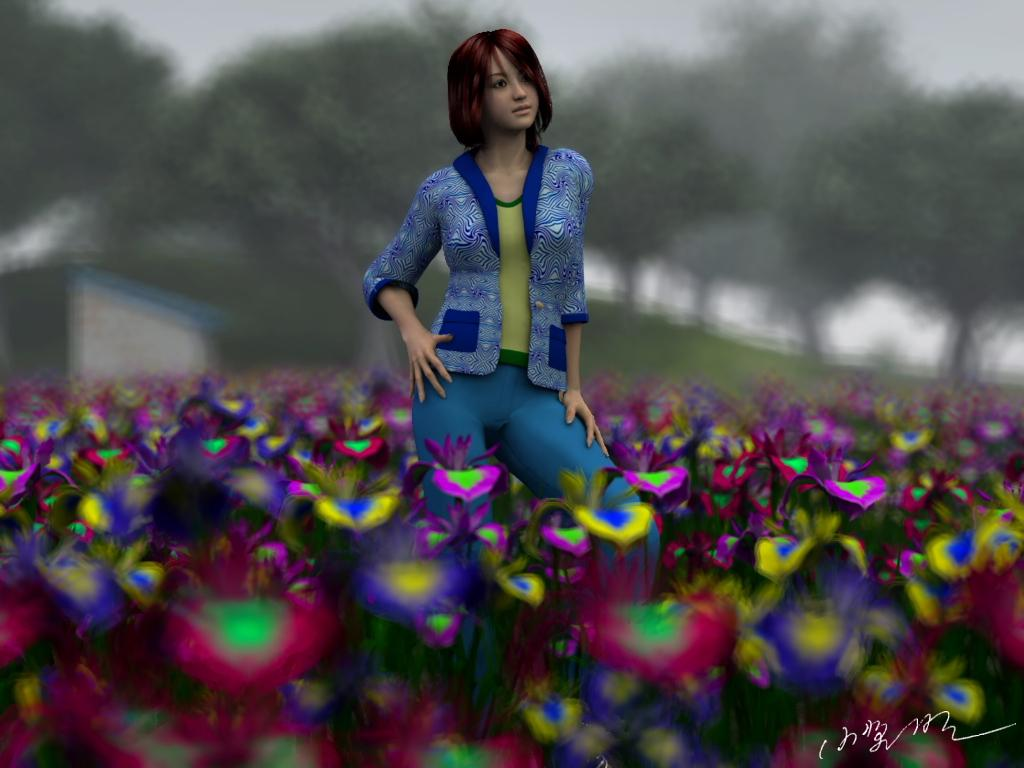 An iris garden by Ark_Pilot