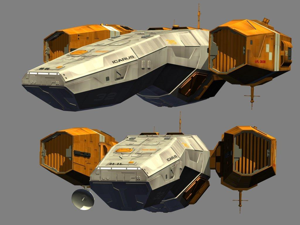 Beat-up old spaceship (WIP)