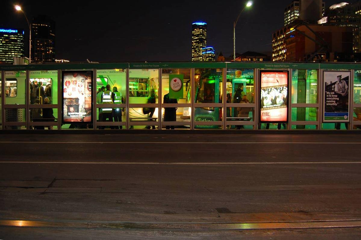 The Green Tram Stop.