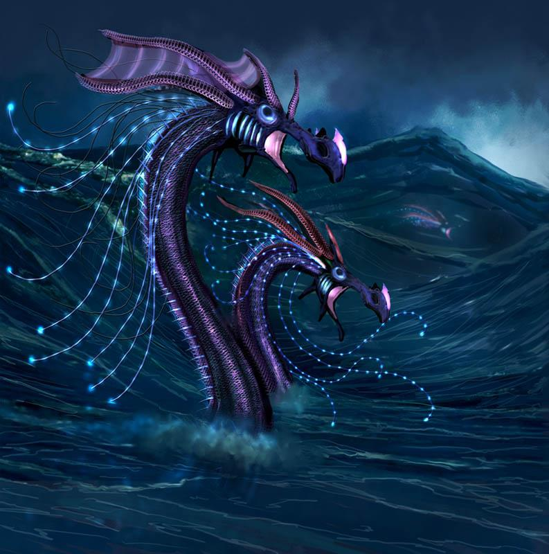 Alien Sea Dragons Concept