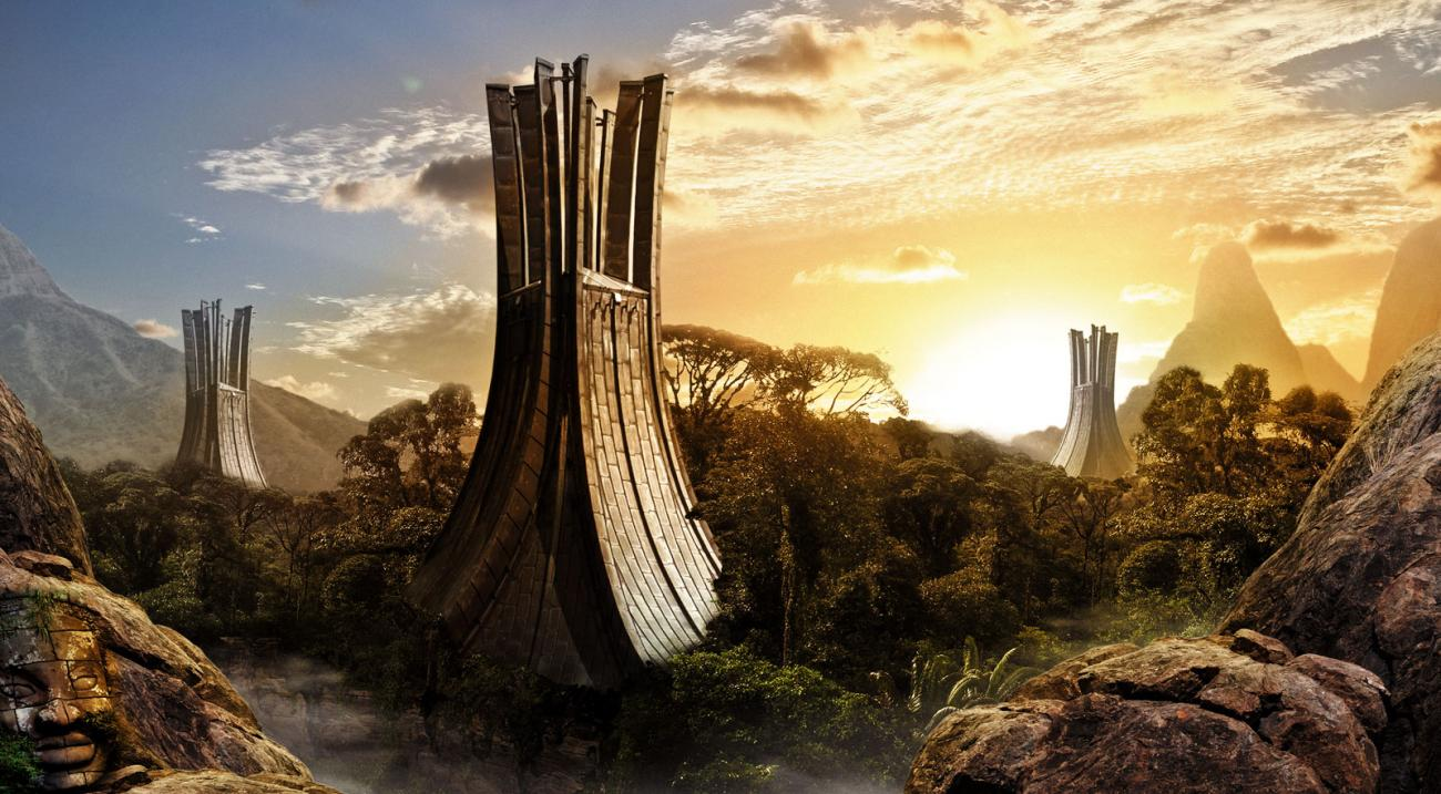 Tropical City Matte Painting