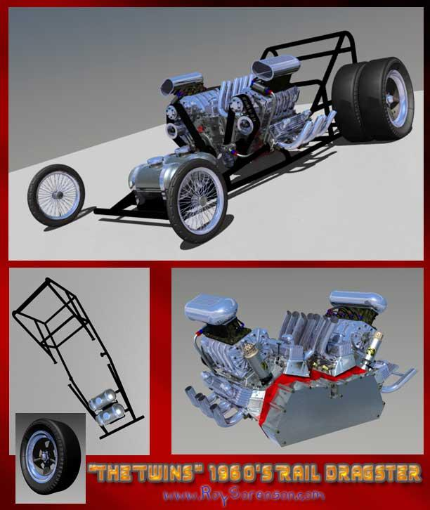 The Twins 1960s Rail Dragster / W I P  #2 by roysorenson