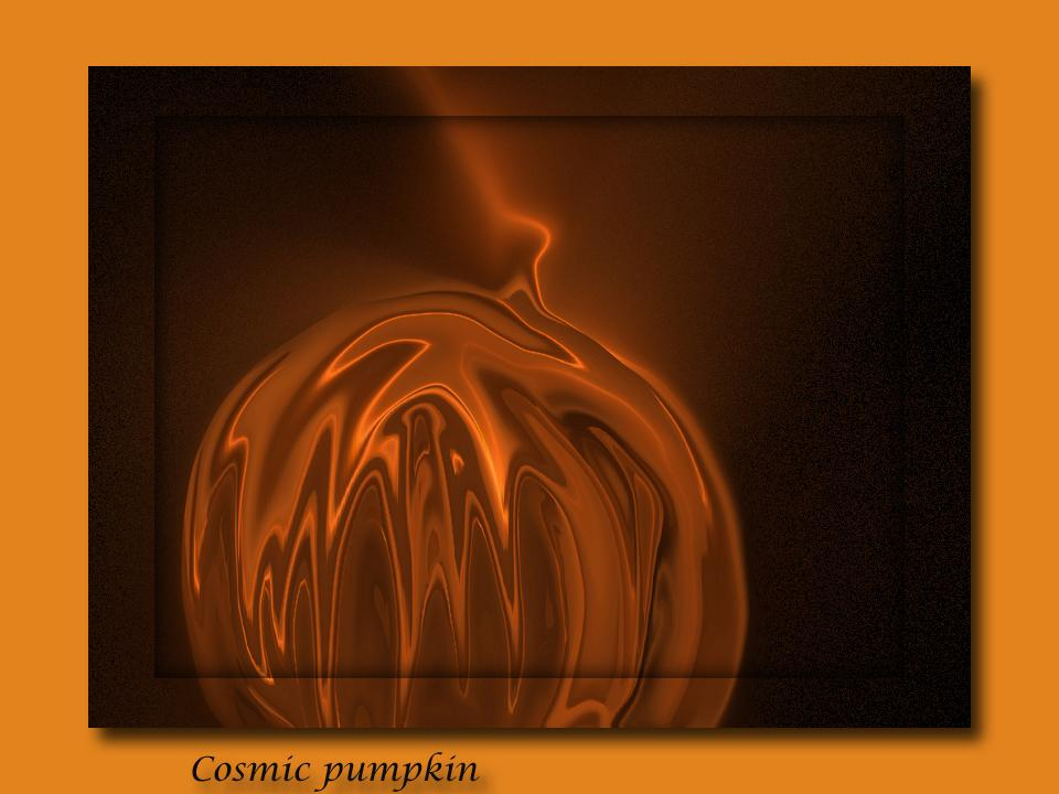Cosmic Pumpkin..for Rebekah