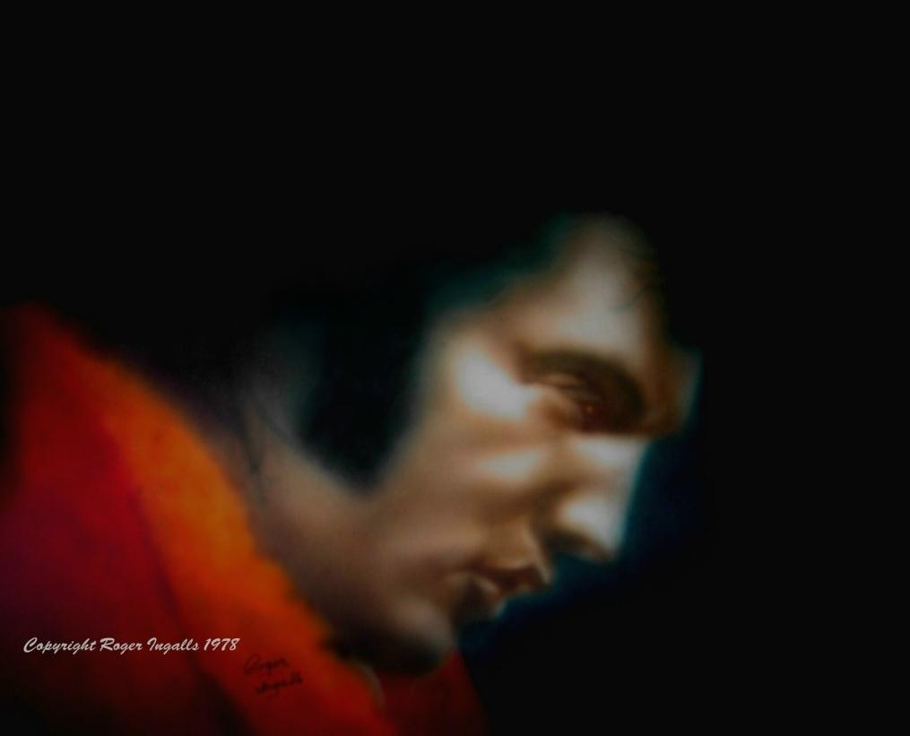 ELVIS  airbrush by Ri