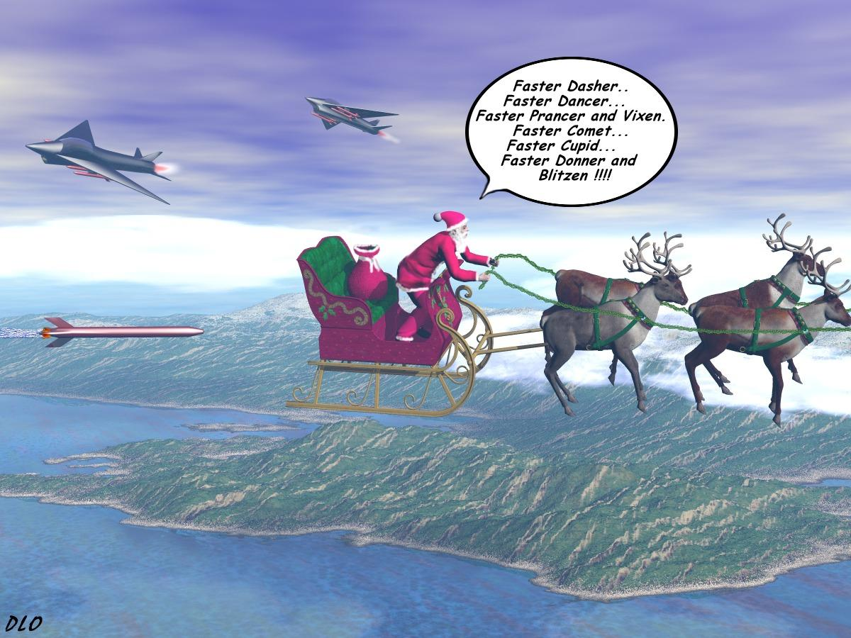 Please don't shoot Santa by davidoblad