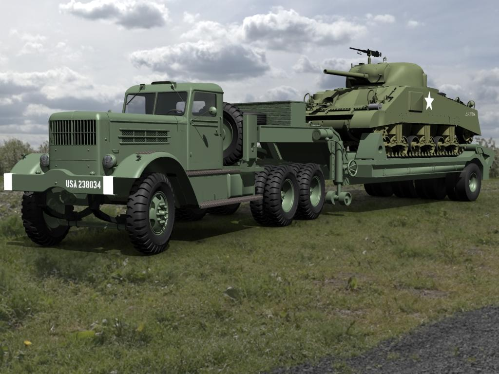 Reo/Federal Tank transporter