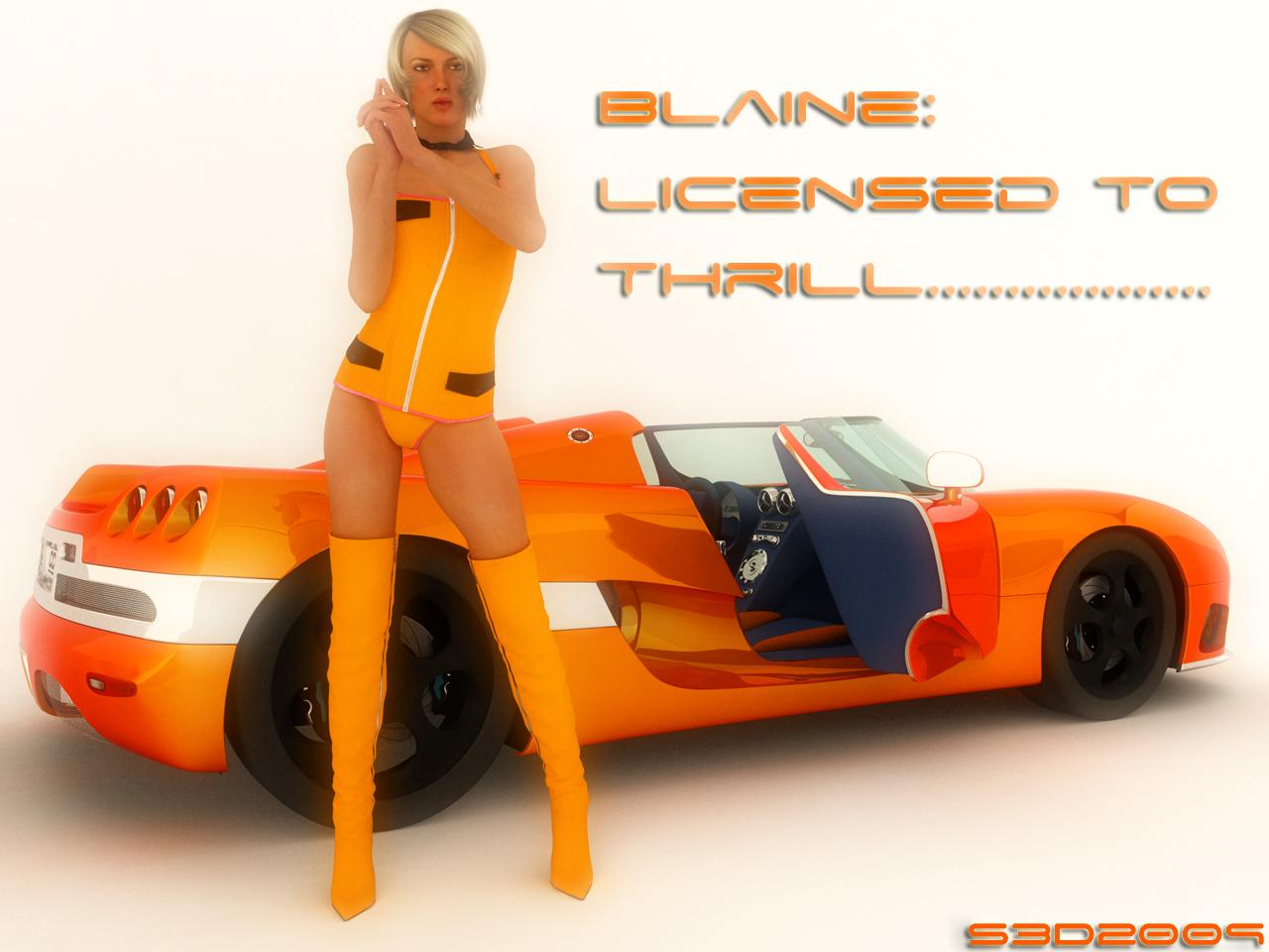 Blaine... Licensed to Thrill...