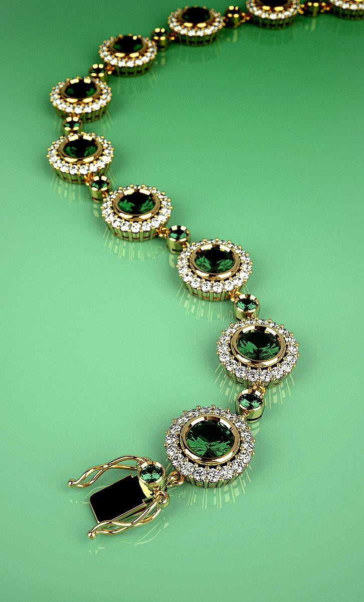 Bracelet with Emeralds