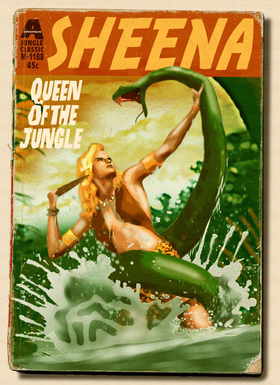 Sheena Paperback Cover Art and Design