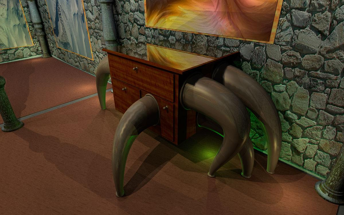 six-legged sidetable