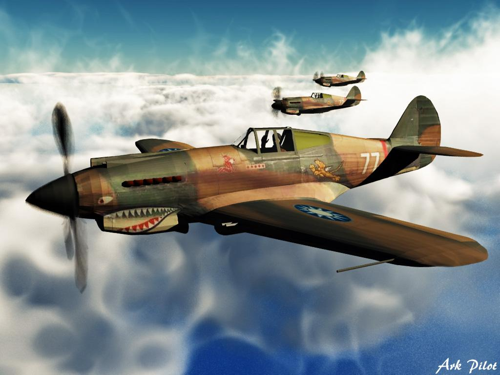 Curtiss P-40 by Ark_Pilot