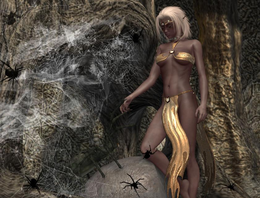 The Spider Keeper: Drow  by Tracesl