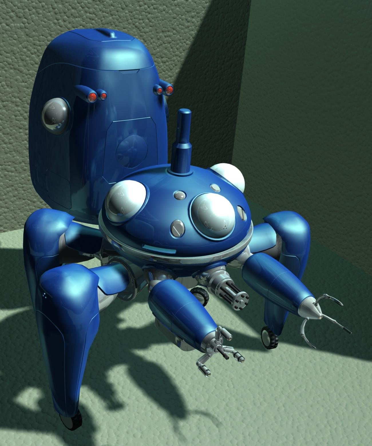 tachikoma WIP, first full render